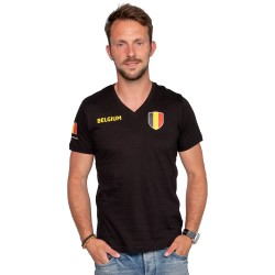 "Belgie shirt heren zwart ""Made in Belgium"""