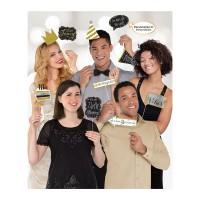 Foto props photobooth verjaardag goud