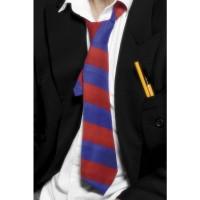 Stropdas schooljongen rood & blauw gestreept