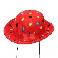 Mini clowns hoedje polkadots rood