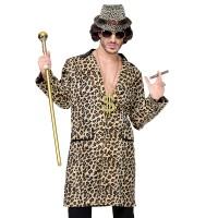 Pooier jas met luipaard motief