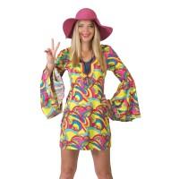 Hippie jurk Hannah vrouwen carnavalspak
