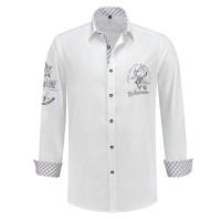 Trachtenhemd heren Tiroler shirt wit