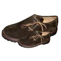 Tiroler schoenen heren leder donkerbruin