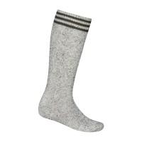 Tiroler kousen heren grijs gespikkeld