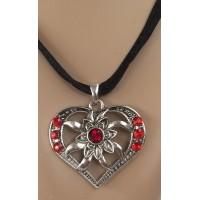tiroler ketting hart oktoberfest acessoires edelweiss