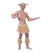 Raffia setje Hawaii of Afrikaanse zulu 5-dlg