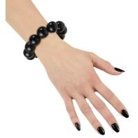 Armband retro parels zwart