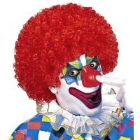 Clownspruik rood krullen