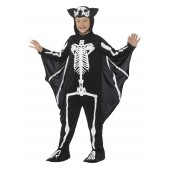 Vleermuis skelet kostuum kind skeletpak halloween
