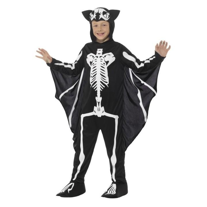 Vleermuis skelet kostuum kind skeletpak