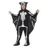 Vleermuis skelet kostuum kind skeletpak halloween