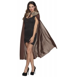 Halloween cape met pels Night Huntress