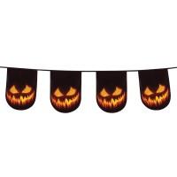 Halloween versiering pompoen vlaggenlijn