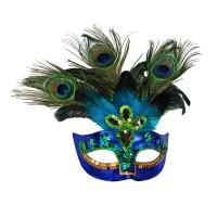 Ventiaans masker pauw oogmasker carnavalsmasker