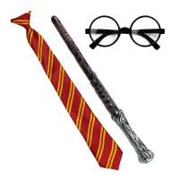 Harry Potter verkleedset toverstaf bril stropdas