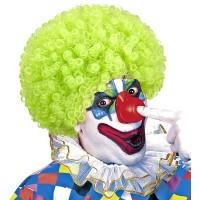 Clownspruik groen krullen carnavalspruiken feestpruiken
