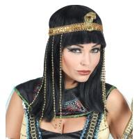 Cleopatra pruik met hoofdband