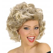 grease pruik sandy blonde krullen carnavalspruik