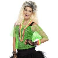 Visnet top groen fluo neon shirt dames