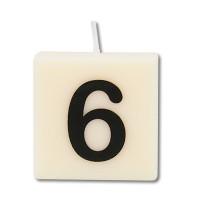 Letter kaarsje cijfer 6