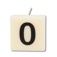 Letter kaarsje cijfer 0