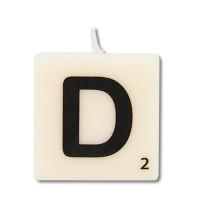 Letter kaarsje letter D
