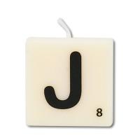 Letter kaarsje letter J