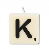 Letter kaarsje letter K