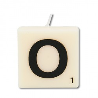 Letter kaarsje letter O