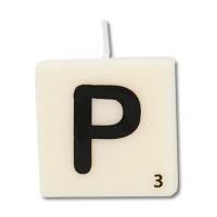 Letter kaarsje letter P