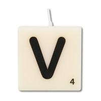 Letter kaarsje letter V