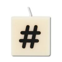 Letter kaarsje symbool hashtag - hekje