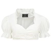 Dirndl blouse met ruches kraag