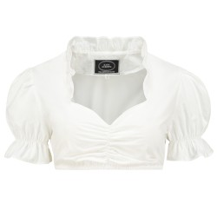 Dirndl blouse ruches kraag grote maat