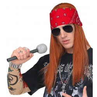 Axl Rose pruik rocker met bril en bandana
