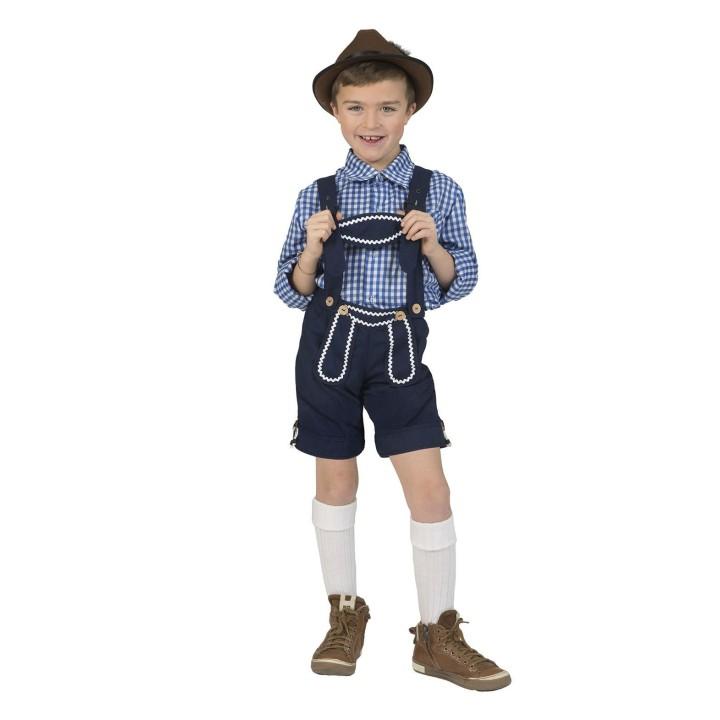 Tiroler broek kind blauw Gunter