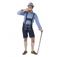 Tiroler broek heren blauw Gustav