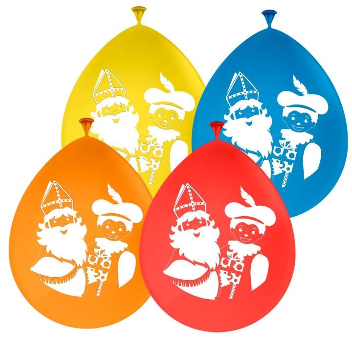 Sinterklaas decoratie ballonnen 30cm 8 stuks