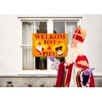 Sinterklaas decoratie vlag 90x60cm