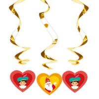 Sinterklaas decoratie hang spiralen 3st