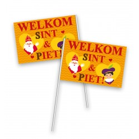 Sinterklaas zwaaivlaggetjes 20x30cm 50 stuks