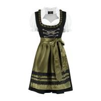 Dirndl jurk traditioneel zwart/olijf groen