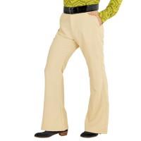 Disco broek voor heren beige 70's broek