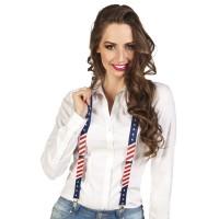 Bretels USA/Amerikaanse vlag motief