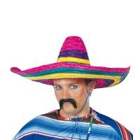 Mexicaanse sombrero hoed 45 cm multicolor
