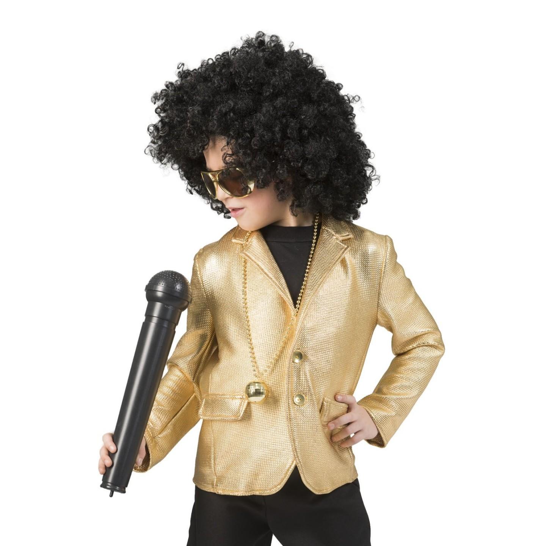 disco glitter jasje kind goud kleding