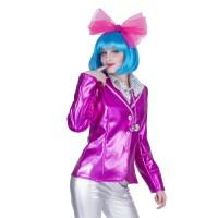 Disco Fever jasje dames roze bling bling