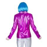 disco kleding dames roze glitter jasje