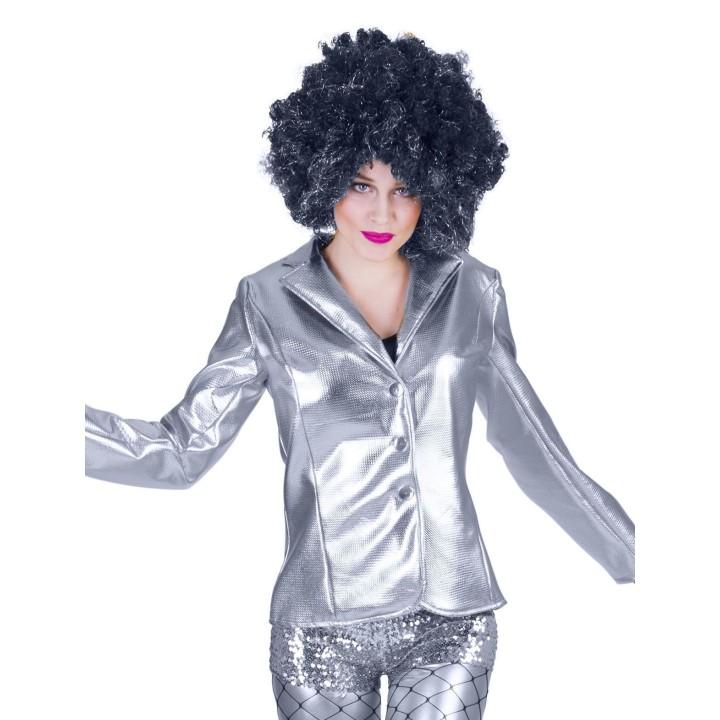 Disco Fever jasje dames zilver bling bling